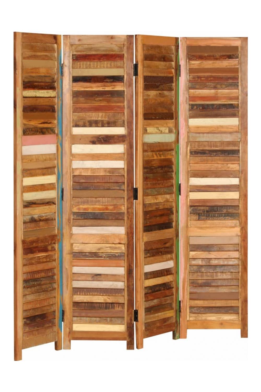 pereti despartitori din lemn masiv reciclat