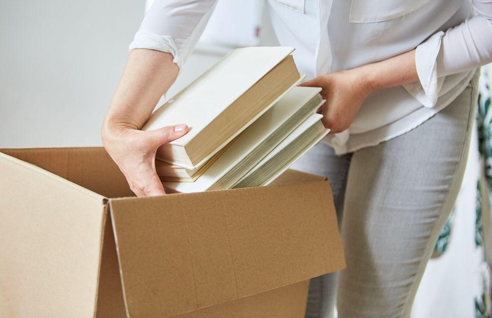 cum să împachetezi cărțile cutii