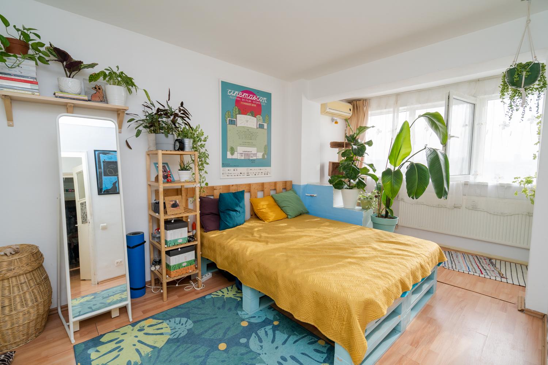 dormitor plante interior