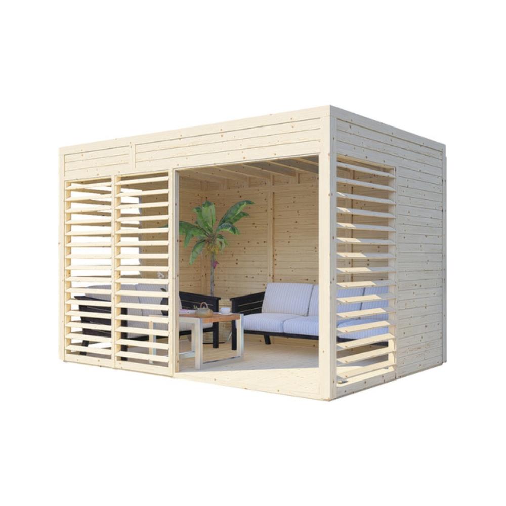 foisor din lemn modern cub hornbach