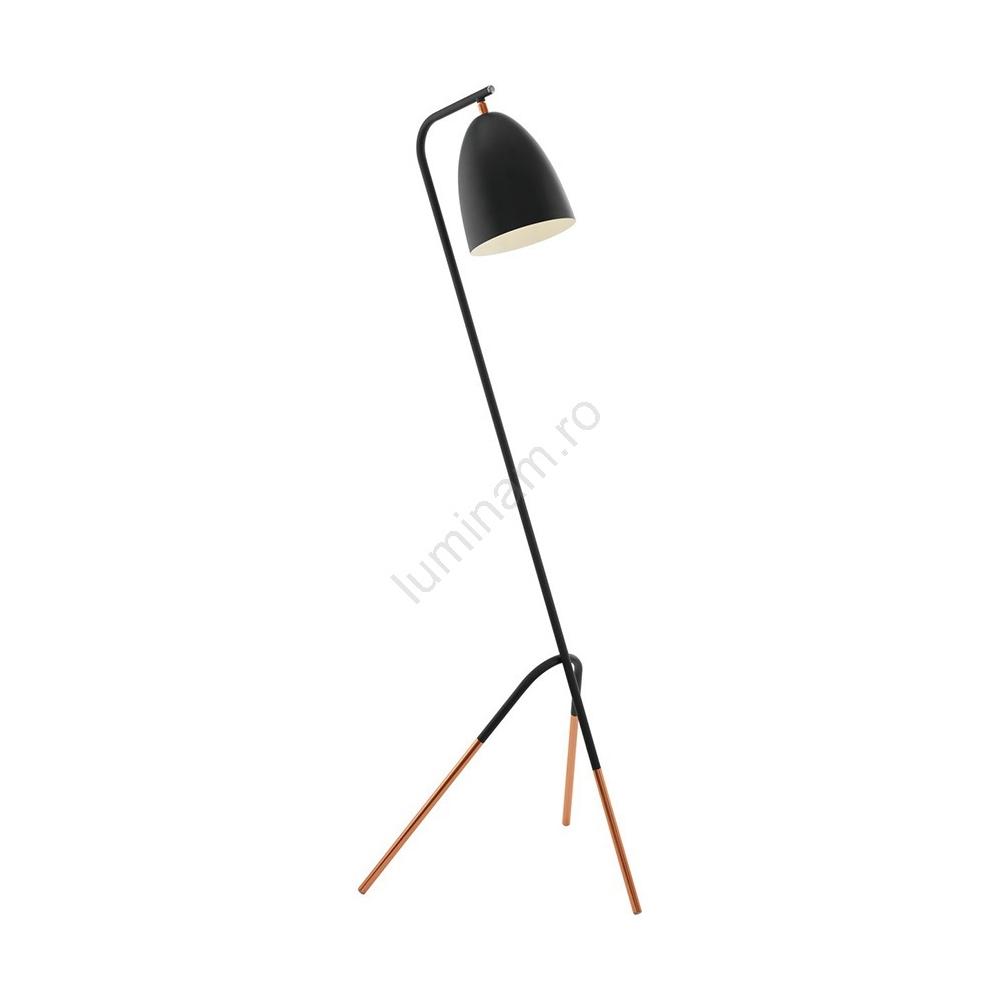lampadar modern negru cupru