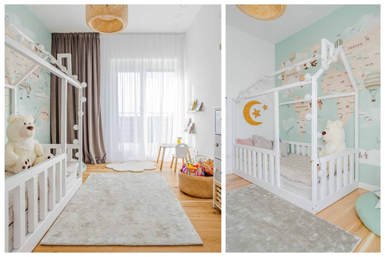 Când amenajăm o cameră de copii, ajută mult să ne punem în locul lor. O amenajare iDecorate. Foto: Vlad Crețeanu