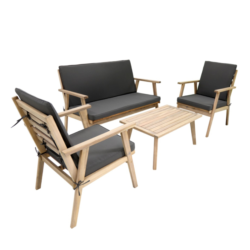 mobilier de gradina brico depot masa cu scaune acacia