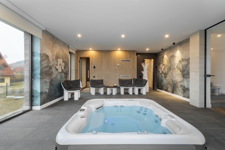 Zona de jacuzzi spa fitness - amenajare casa Sibiu - arh. Sergiu Califar Pure-Mess Design (1)