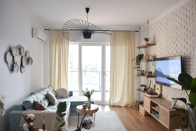 verde menta amenajare_boho_apartament_complexĂ_rezidențial
