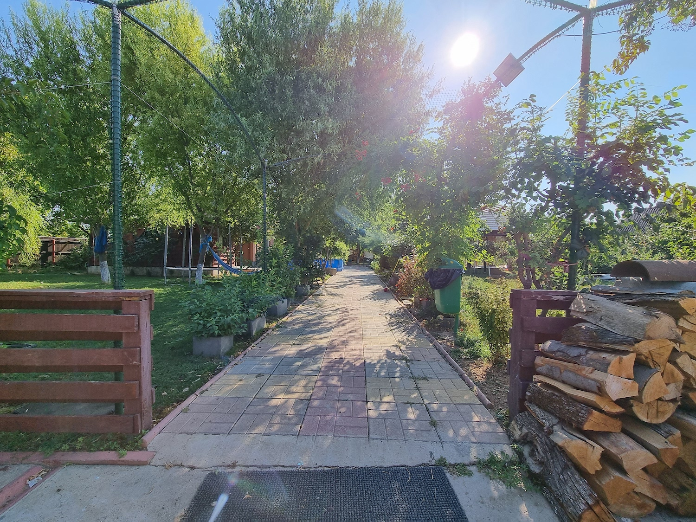 casa la tara Tinerii au un teren de 3000 de metri pătrați, o grădină bogată, dar și o micro-fermă