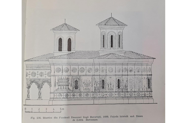 stilul brâncovenesc - biserica fundenii-doamnei desen