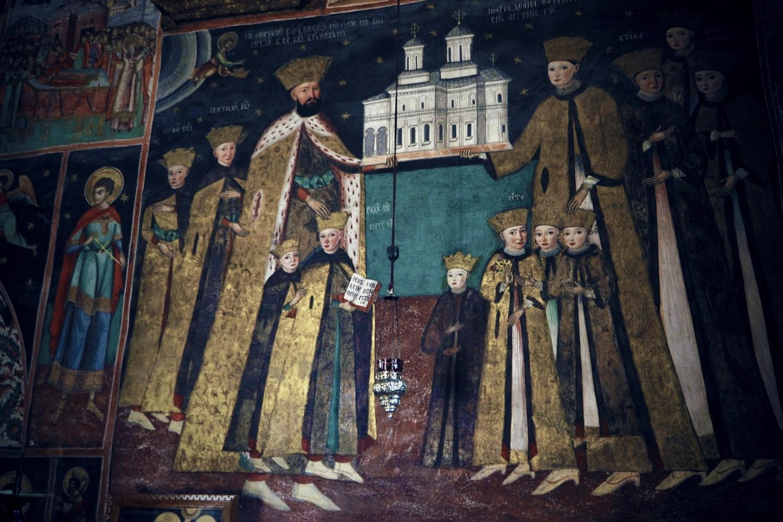 stilul brâncovenesc - fresca manastirea horezu