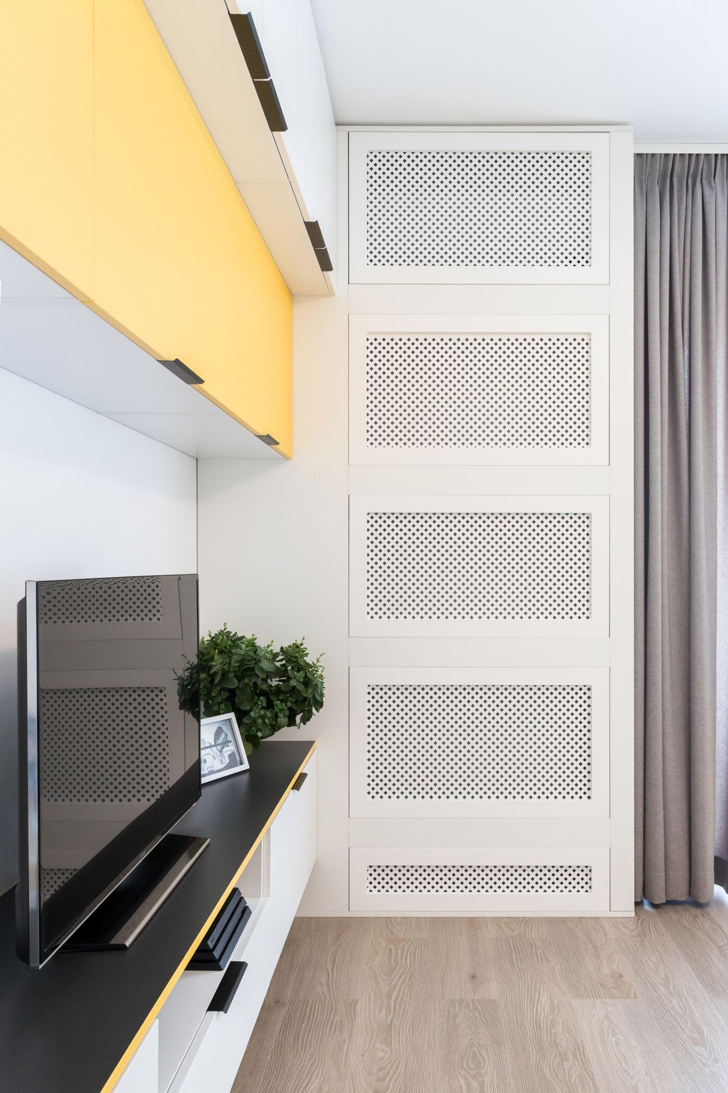 Aer conditionat ascuns in mobilier pe comanda - arh. int. Stefania Bobaru VIM Studio