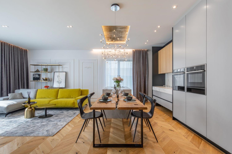 Amenajare vila duplex Otopeni stil eclectic - Sergiu Califar - Pure Mess Design - bucatarie minimalista cu insula ciment (5)