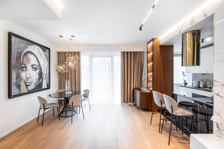 Apartament elegant amenajare Sami Bumbu Bucuresti - open space stil modern (1)
